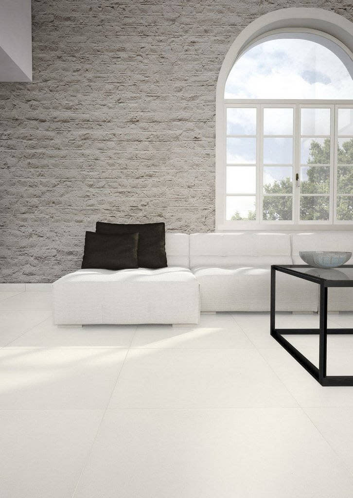 Lastra in gres porcellanato 3 mm spessore Absolute White