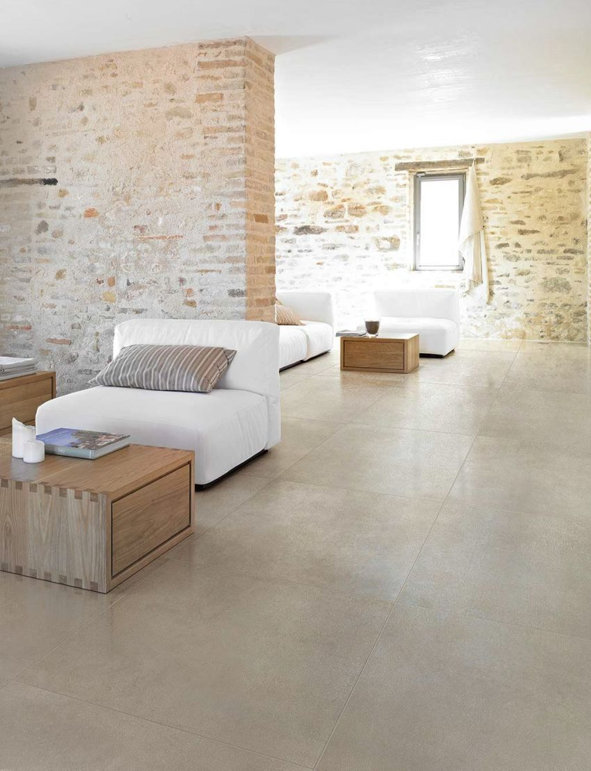 Lastra in gres porcellanato Industrial Ivory 120x120 spessore 6mm
