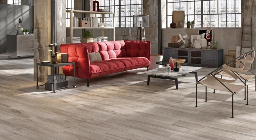 Pavimento in gres porcellanato legno North Wilde Grey