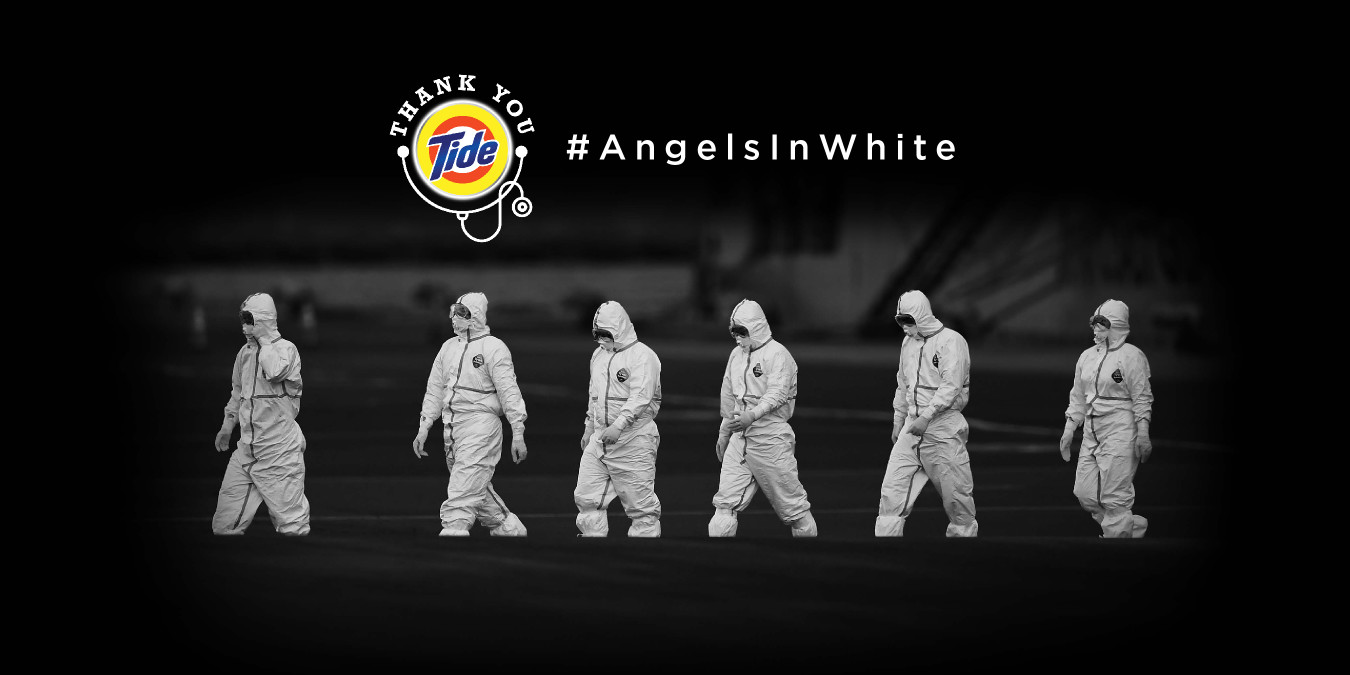 Angels in white photo