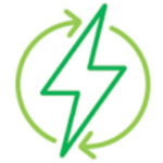 Green renewable electricity icon