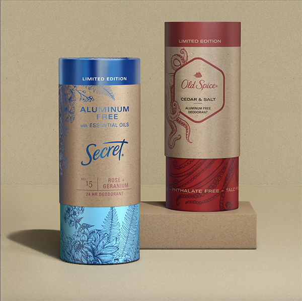 Old Spice and Secret Become First Major Brands to Introduce All-Paper,  Plastic-Free Deodorant Packaging