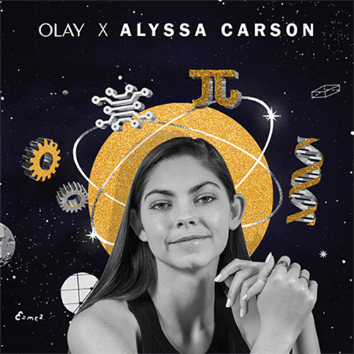OLAY released a special-edition #FaceTheSTEMGap jar inspired by Alyssa Carson, an aspiring astronaut.