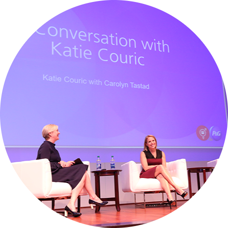 Katie Couric and Carolyn Tastad