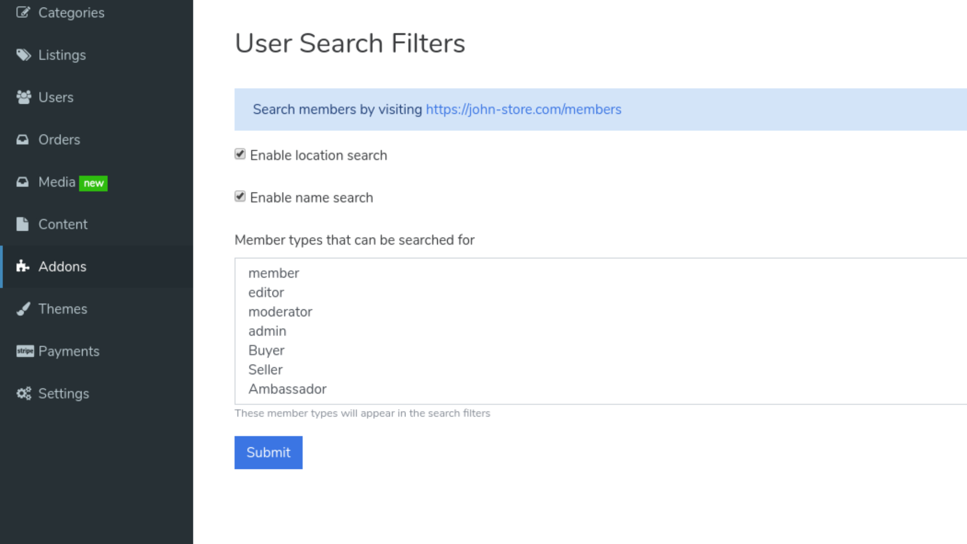 user-search-filters