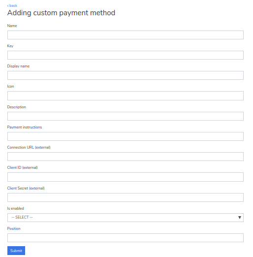 adding custom payment method
