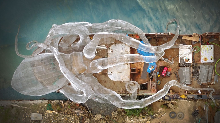 Richard Branson Built a Giant Kraken Sculpture on an Old Ship for You to Swim Through: BVI