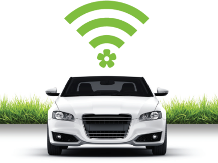 Image of a Car with a Wi-FI Symbol