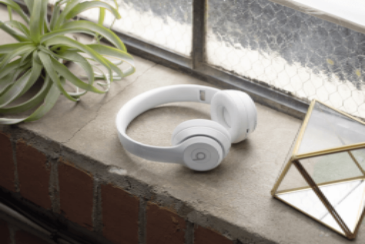 Gloss White Beats Solo3 Headphones on Window Sill