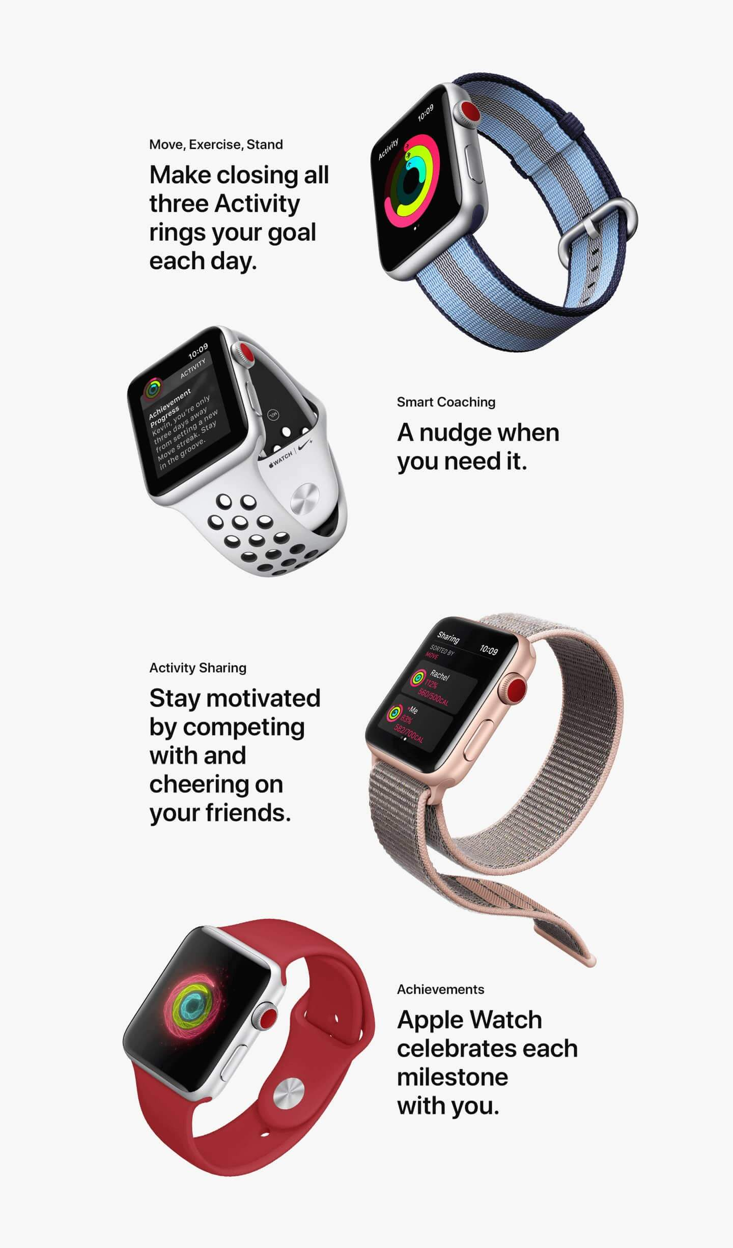 Health And Fitness Features List Of Apple Watch Series 3