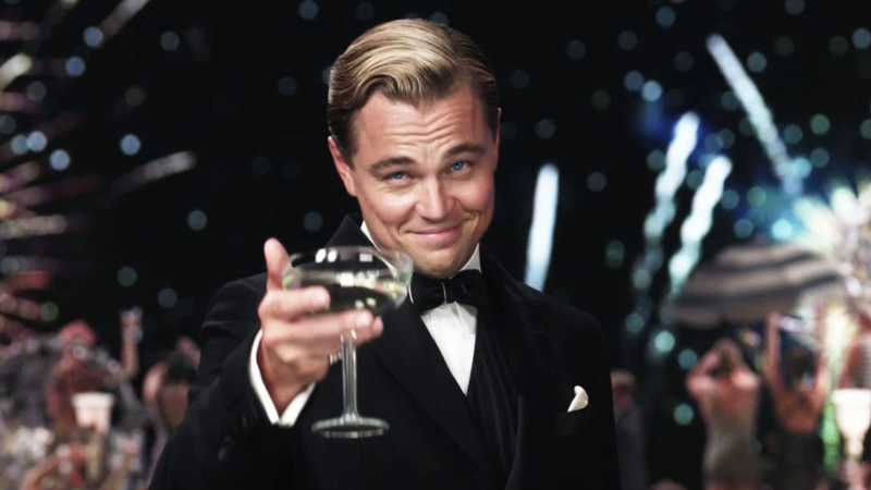 Leonardo Di Caprio in the great gatsby