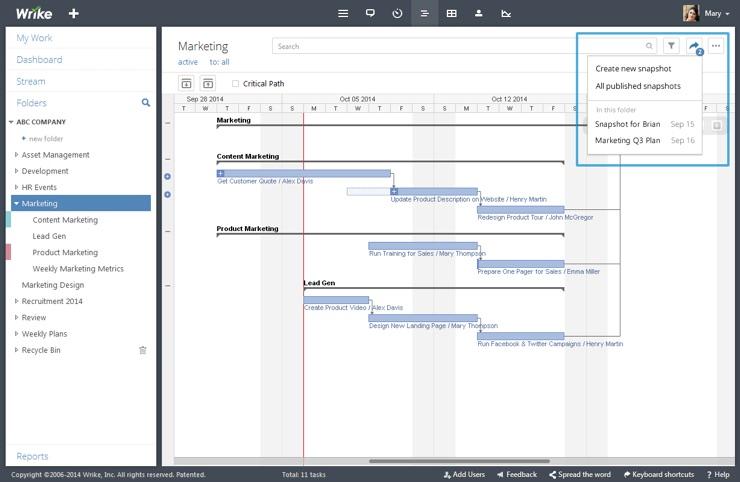 Wrike project timeline