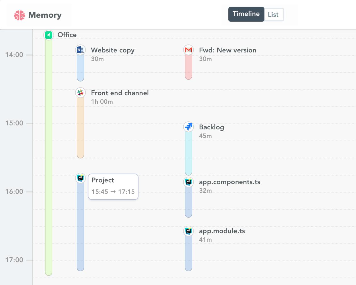 WebStorm time tracking