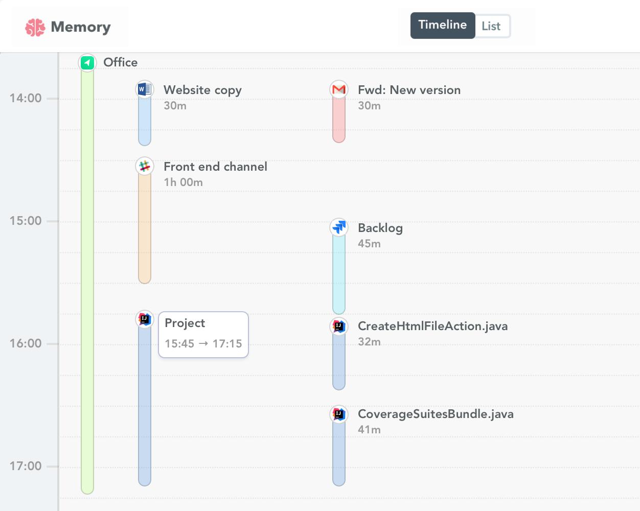 IntelliJ IDEA time tracking