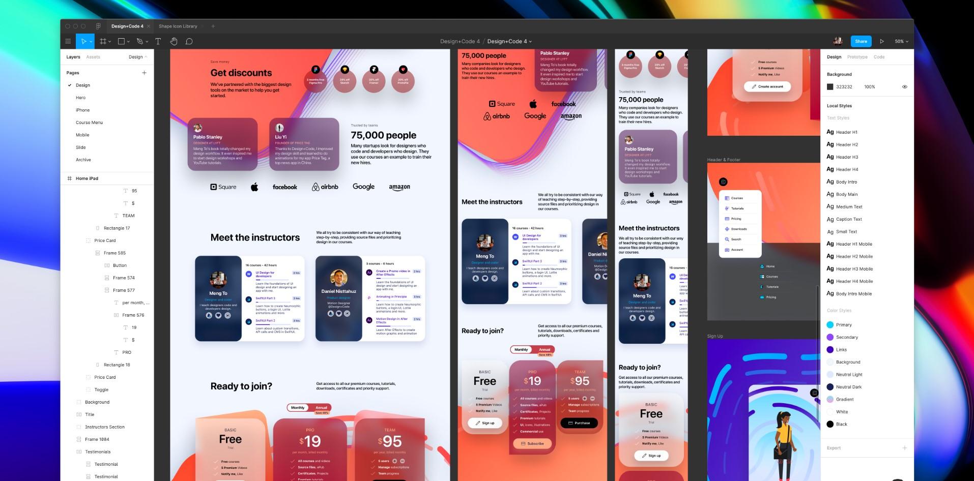 UI Design for Developers course