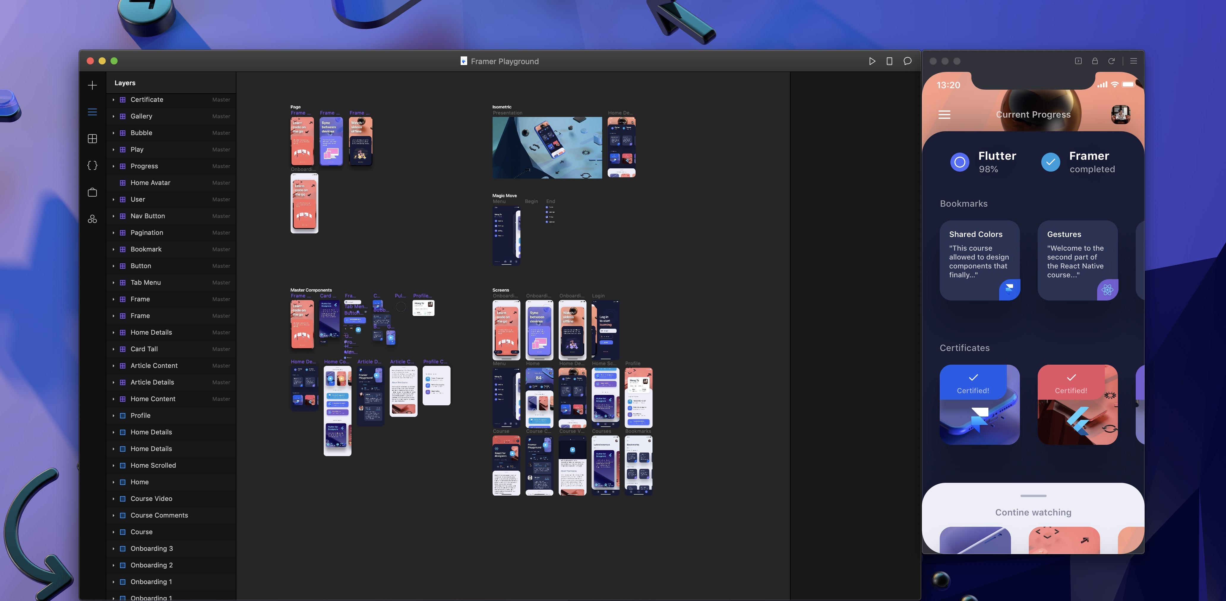 UI Interactions in Framer Playground - Design+Code