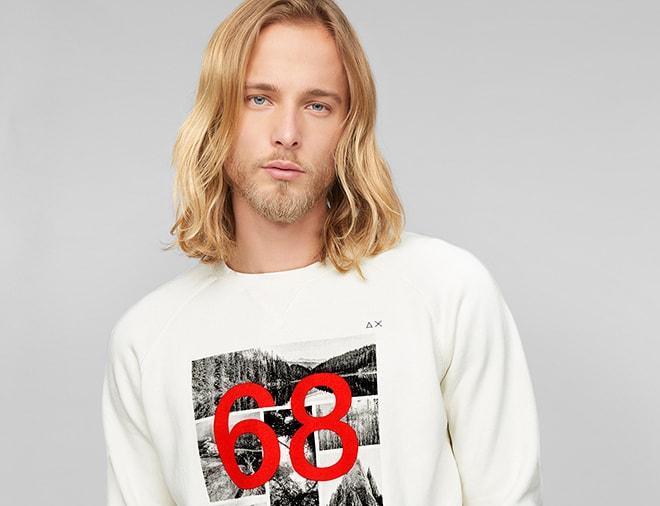 sun68 casual clothing and sportswear  alessa w shirt mit glitzerbandern damen bekleidung ojxzxqlsv #12