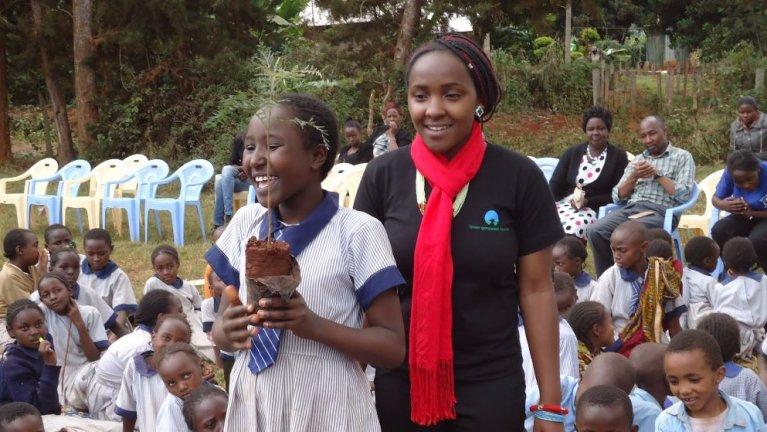 Elizabeth encourages environmental awareness in schools and communities.