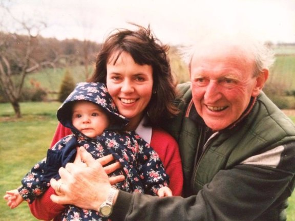 Beth as a baby with her mum and grandad. Credit Beth French