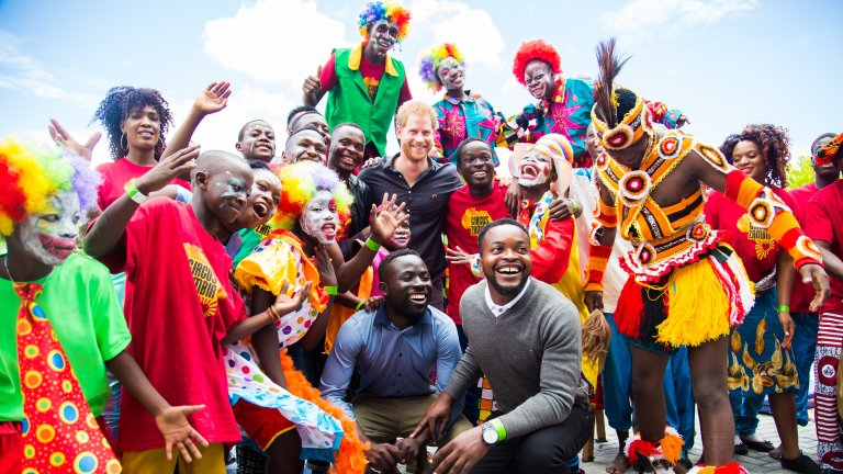 Duke of Sussex_Circus Zambia_main image