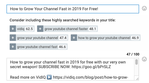 optimizing youtube for keywords