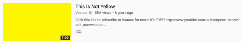This is not yellow custom youtube thumbnail