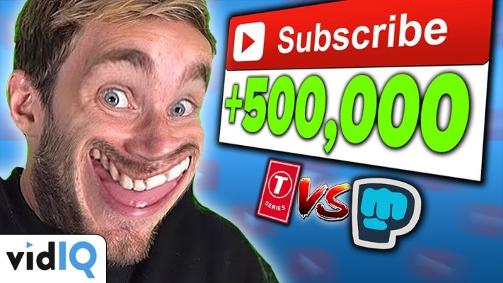 Pewdiepie VS T Series 500,000 Subscribers In One Day