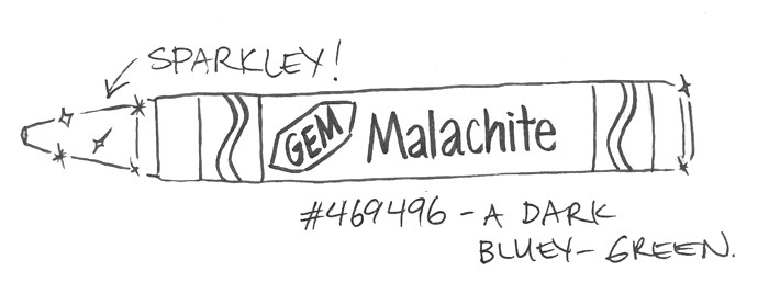 Gem Malachite #469496 — A dark bluey- green (sparkley!)