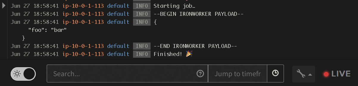 Secure runtime variables in IronWorker with Manifold