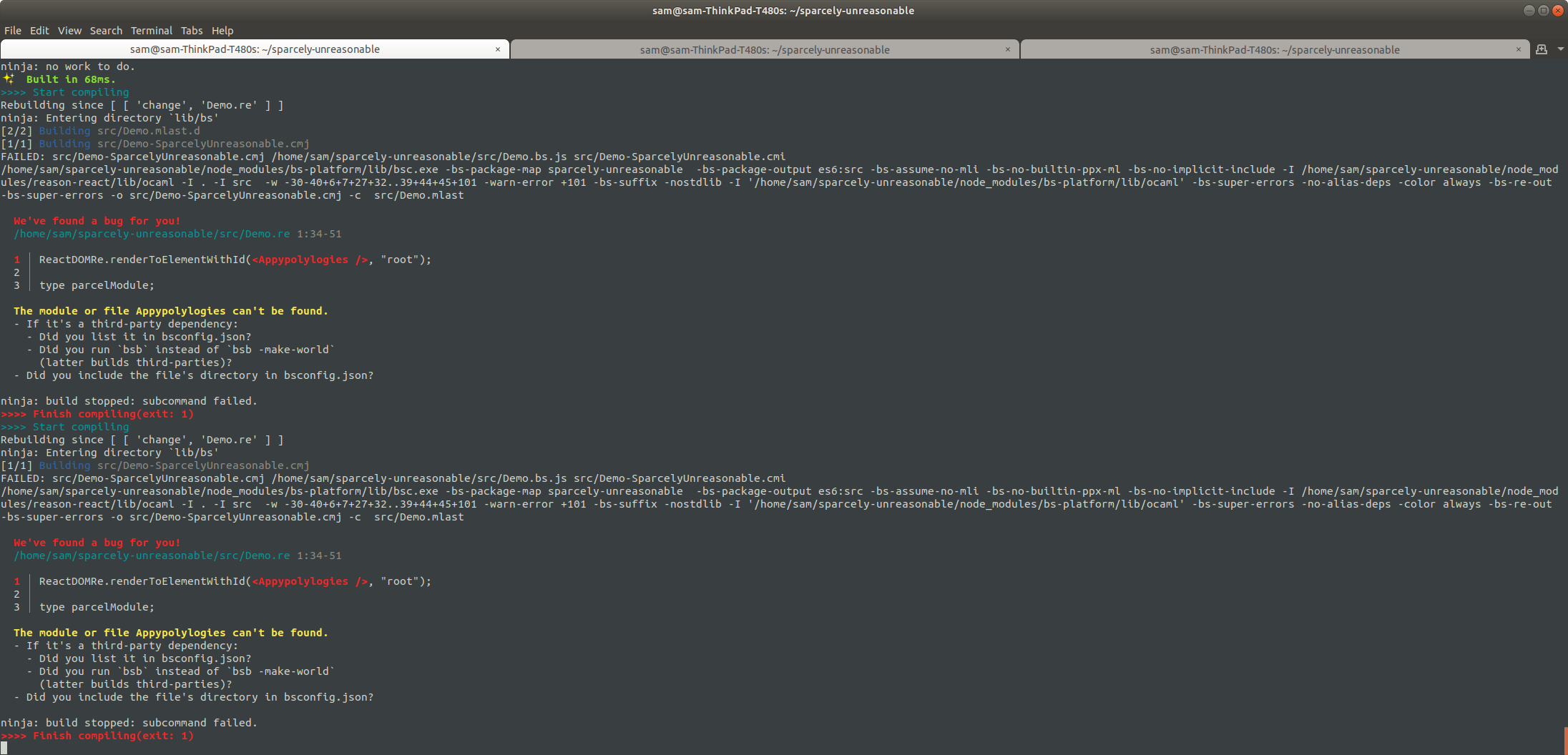 bsb & parcel running in parallel, with all output visible, via npm-run-all
