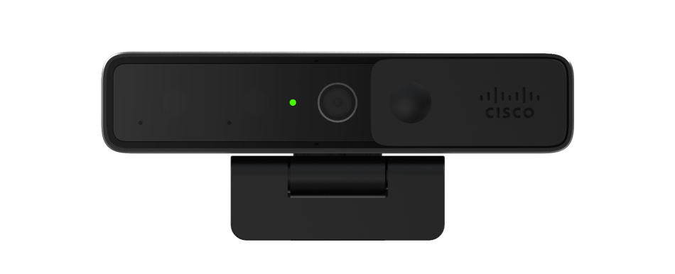 An image of the Cisco Webex Desktop Camera device on its own. The image shows the front of the device.