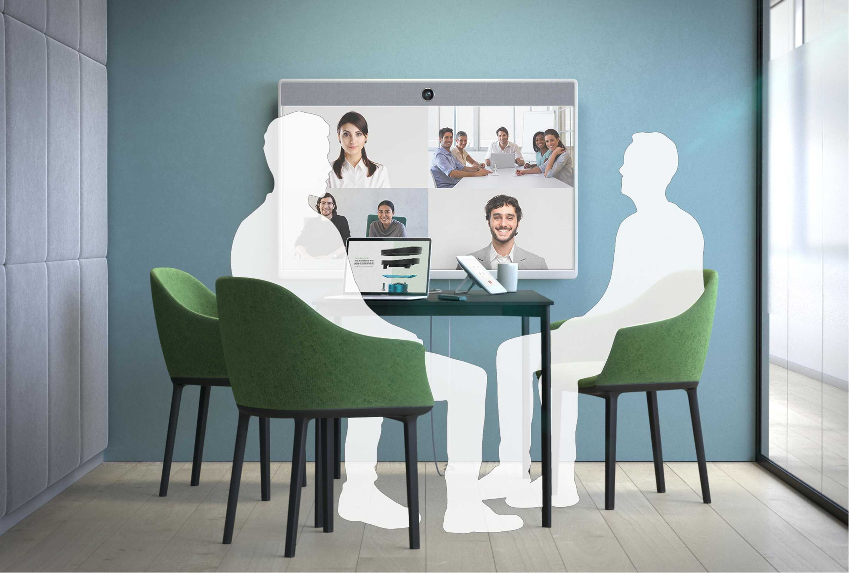 Cisco Webex Room 55 in a Video meeting within a medium sized Huddle