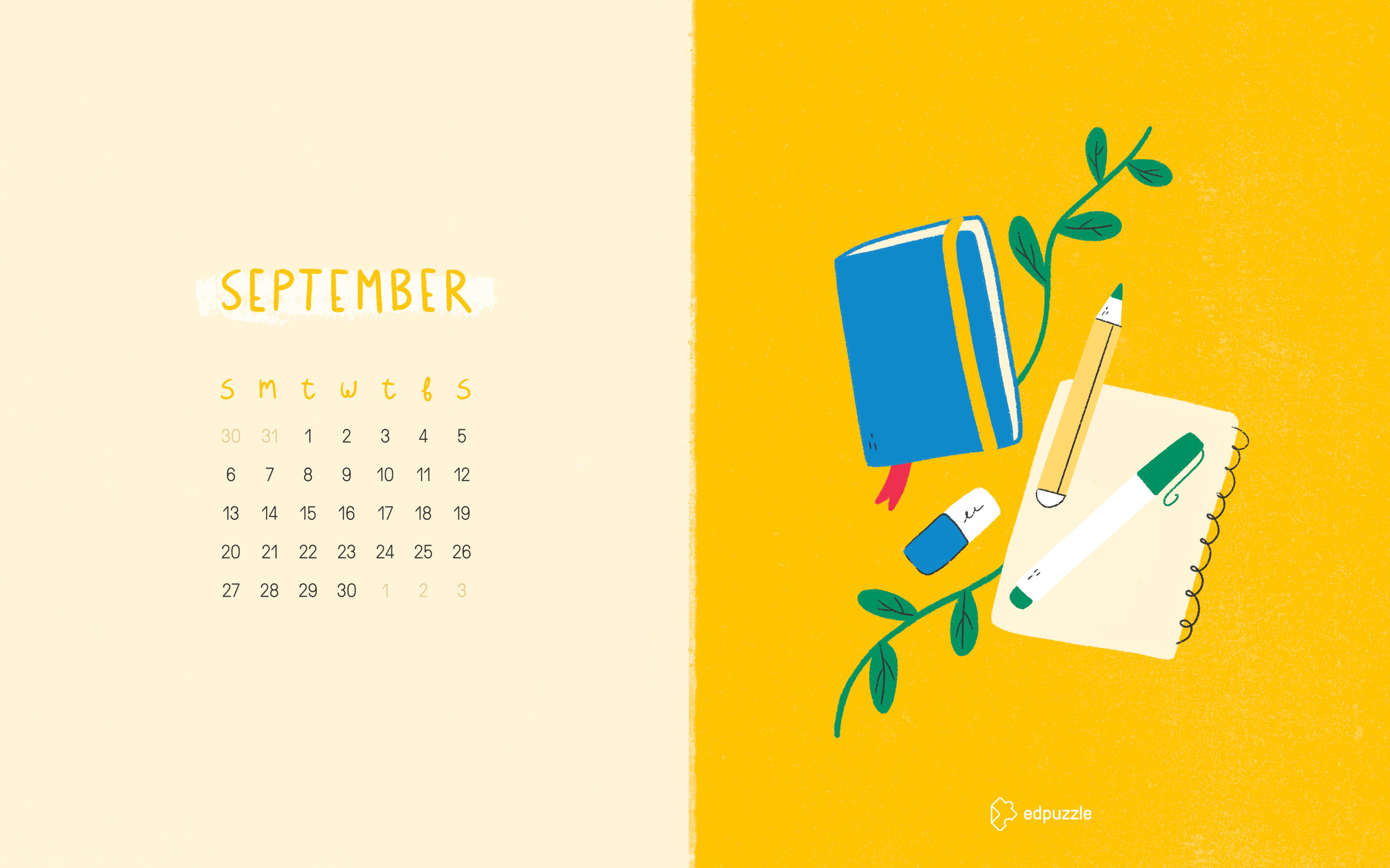 September Calendar 2020 Desktop