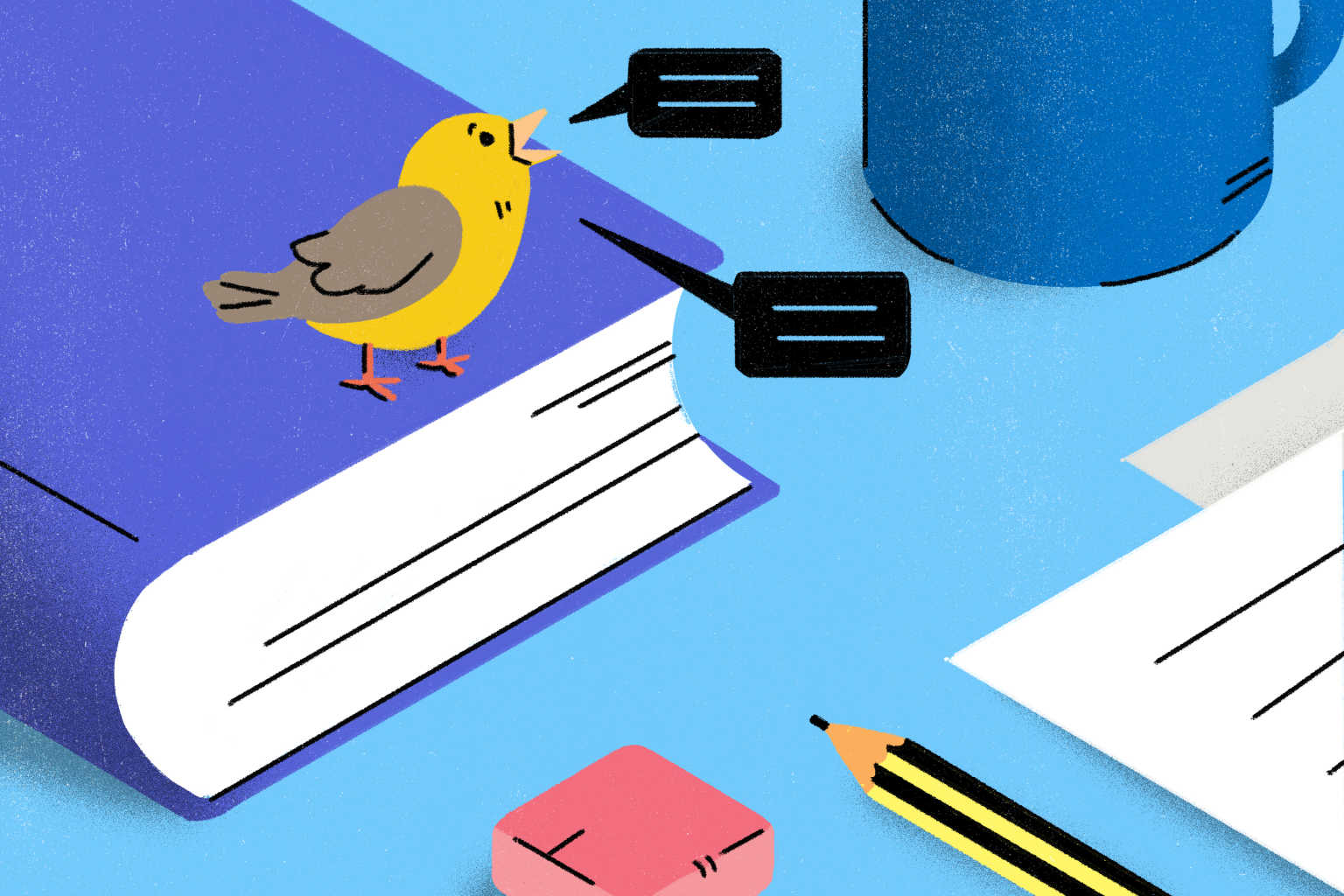 twitter-bird-tweets-on-book-illustration