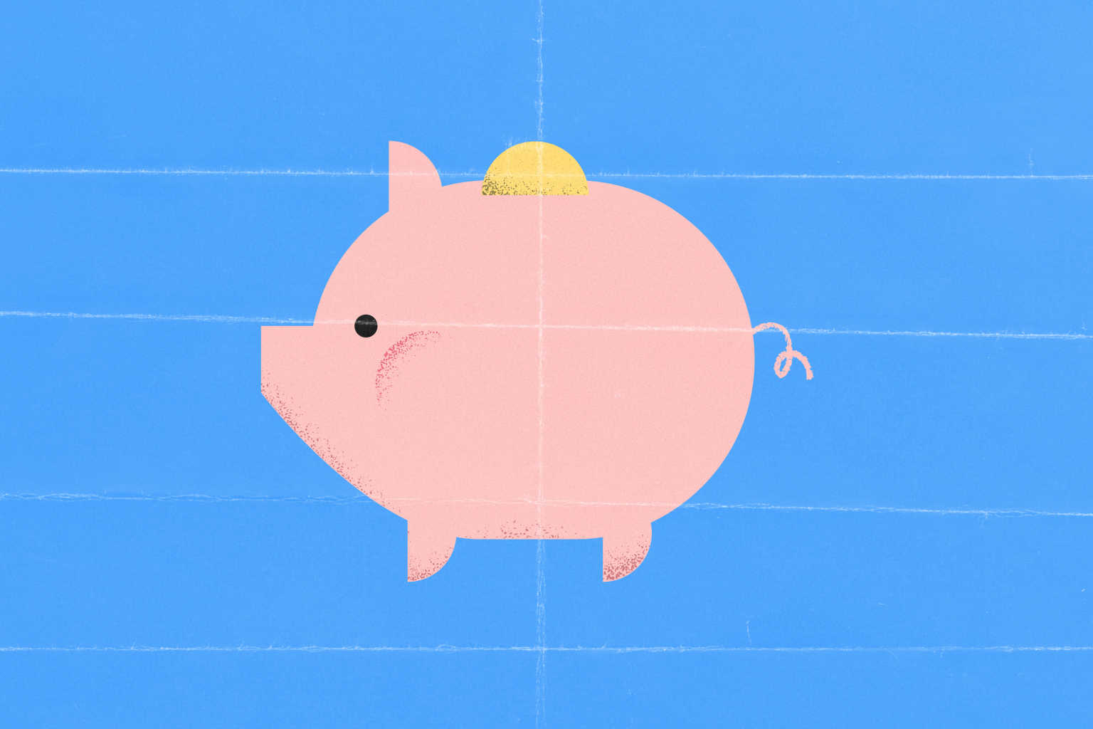piggy-bank-blue-background-illustration