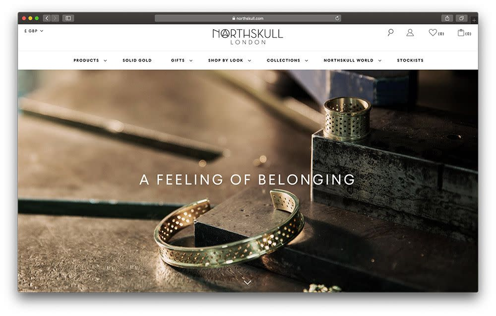 "A screenshot of the ""Northskull Discover"" website from 2015."