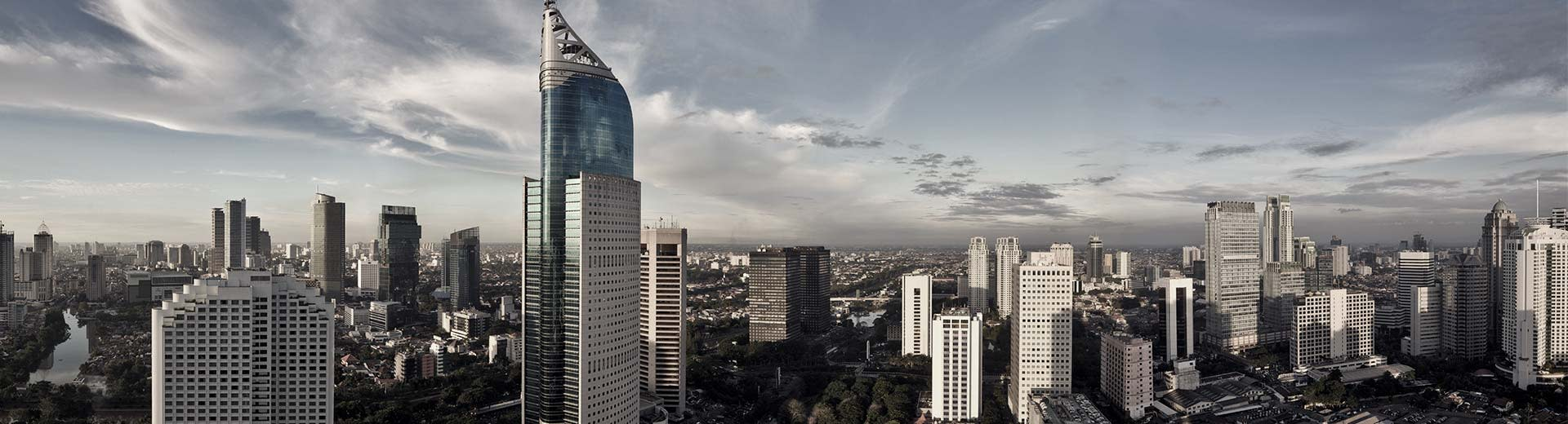 The sprawling mass of Jakarta stretches as far as the eye can see