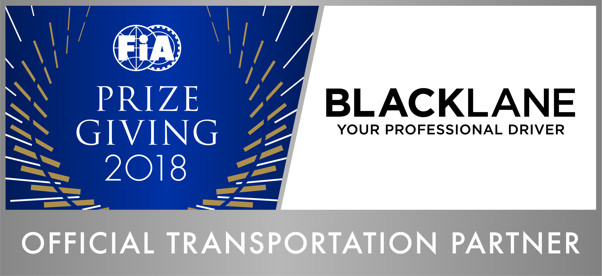 FIA Prize Giving 2018 Official Transportation Partner