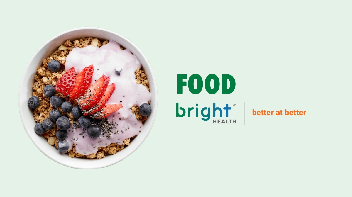 Bright health default image for the food category. Bowl of healthy granola, yogurt and fruit.