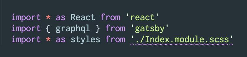 Gatsby Starter Tutorial: Typescript SCSS Errors