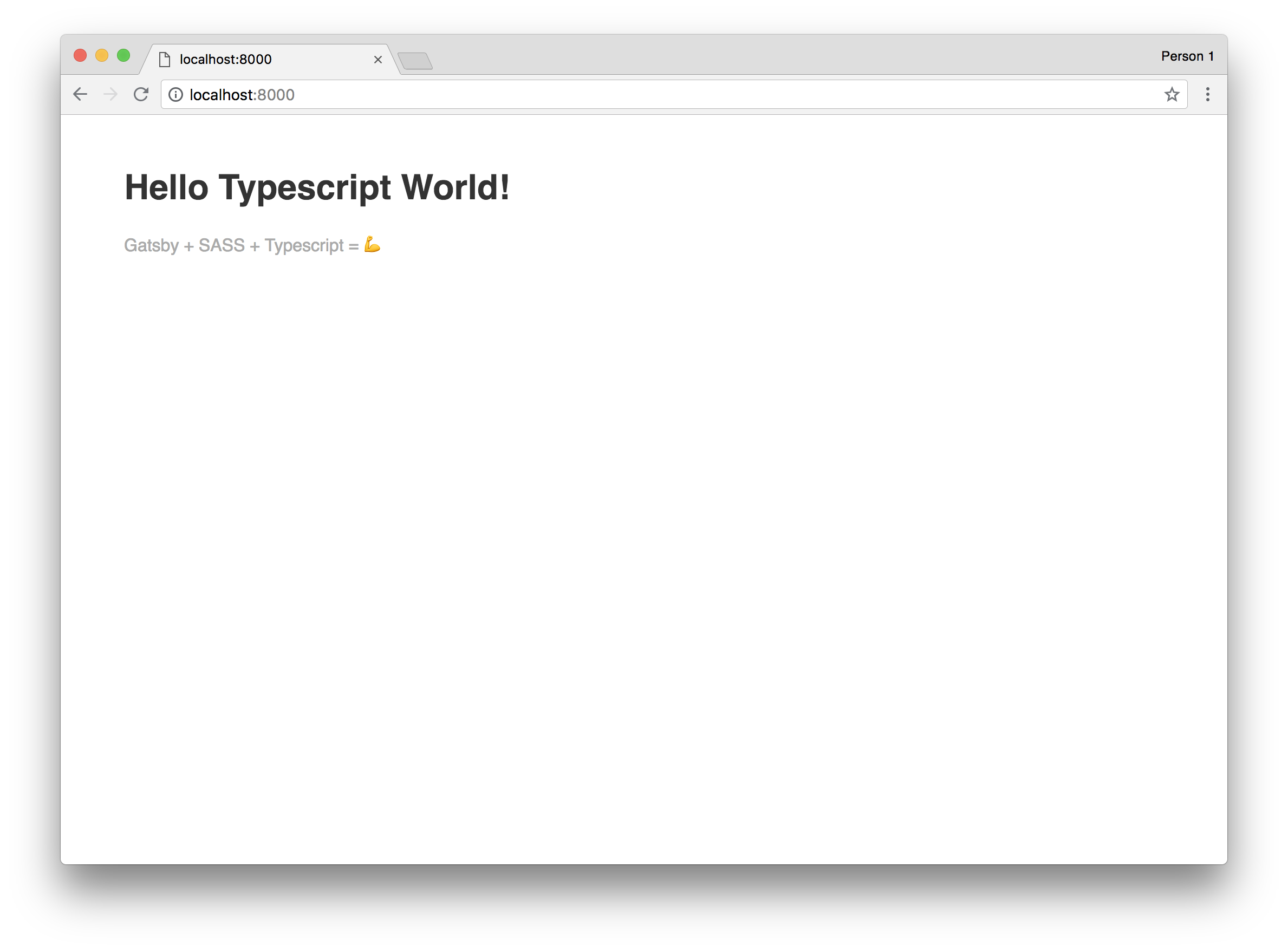 Gatsby Starter Tutorial: Step 3 (Hello Typescript World)