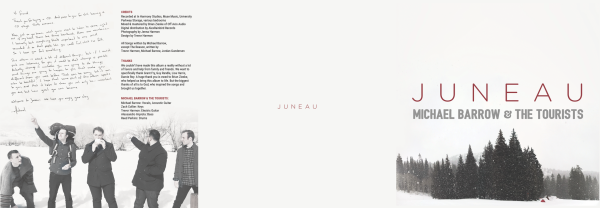Juneau - 6 Panel Insert - Outer | This is the insert for the limited run of Juneau. The middle panel is displayed directly inside the jewel case, with the left panel folded in.