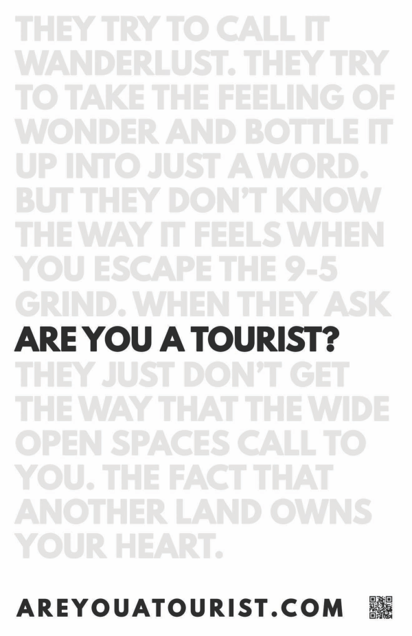 Are You A Tourist? Poster - Words |