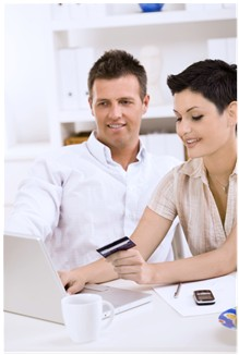 Couple working on How to Get Out of Credit Card Debt