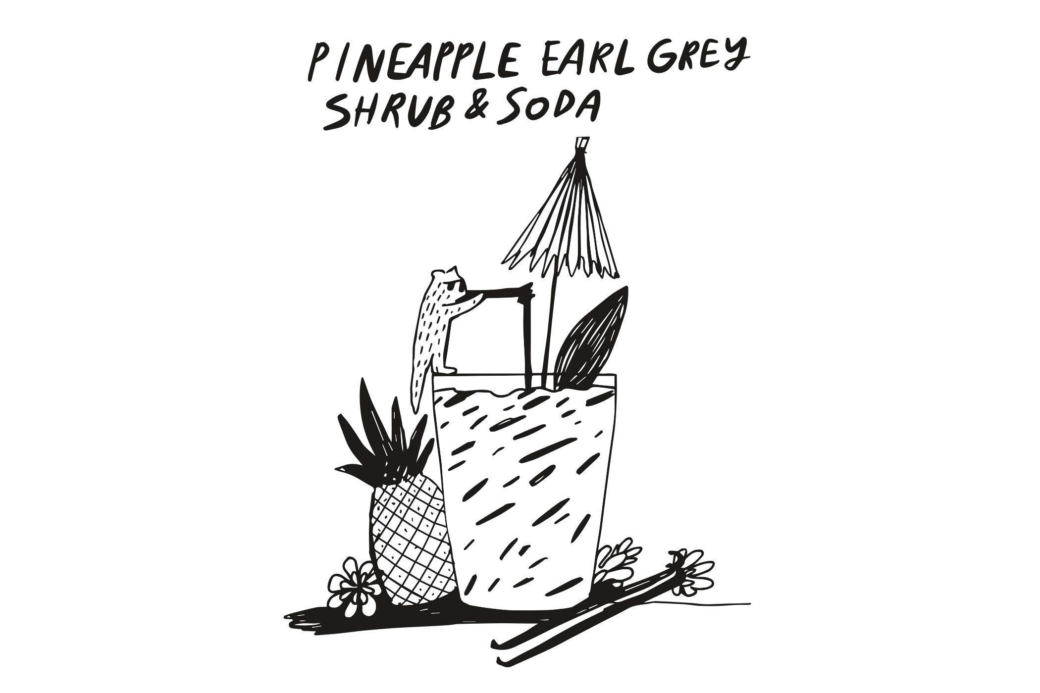 Pineapple Earl Grey Shrub Soda web2