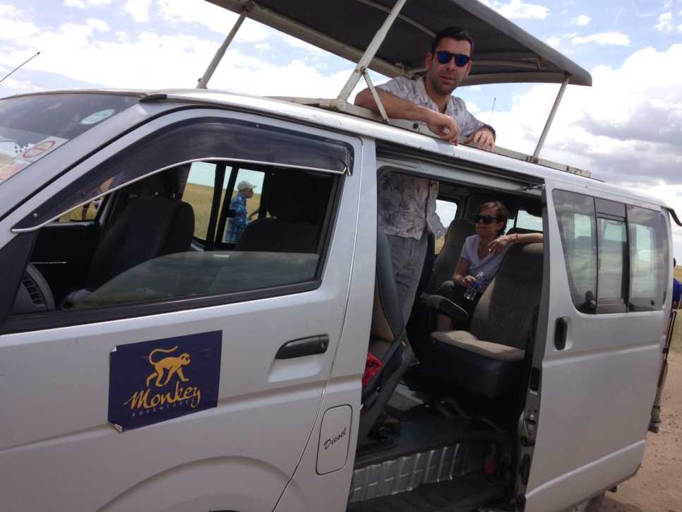 Customers in Safari Van