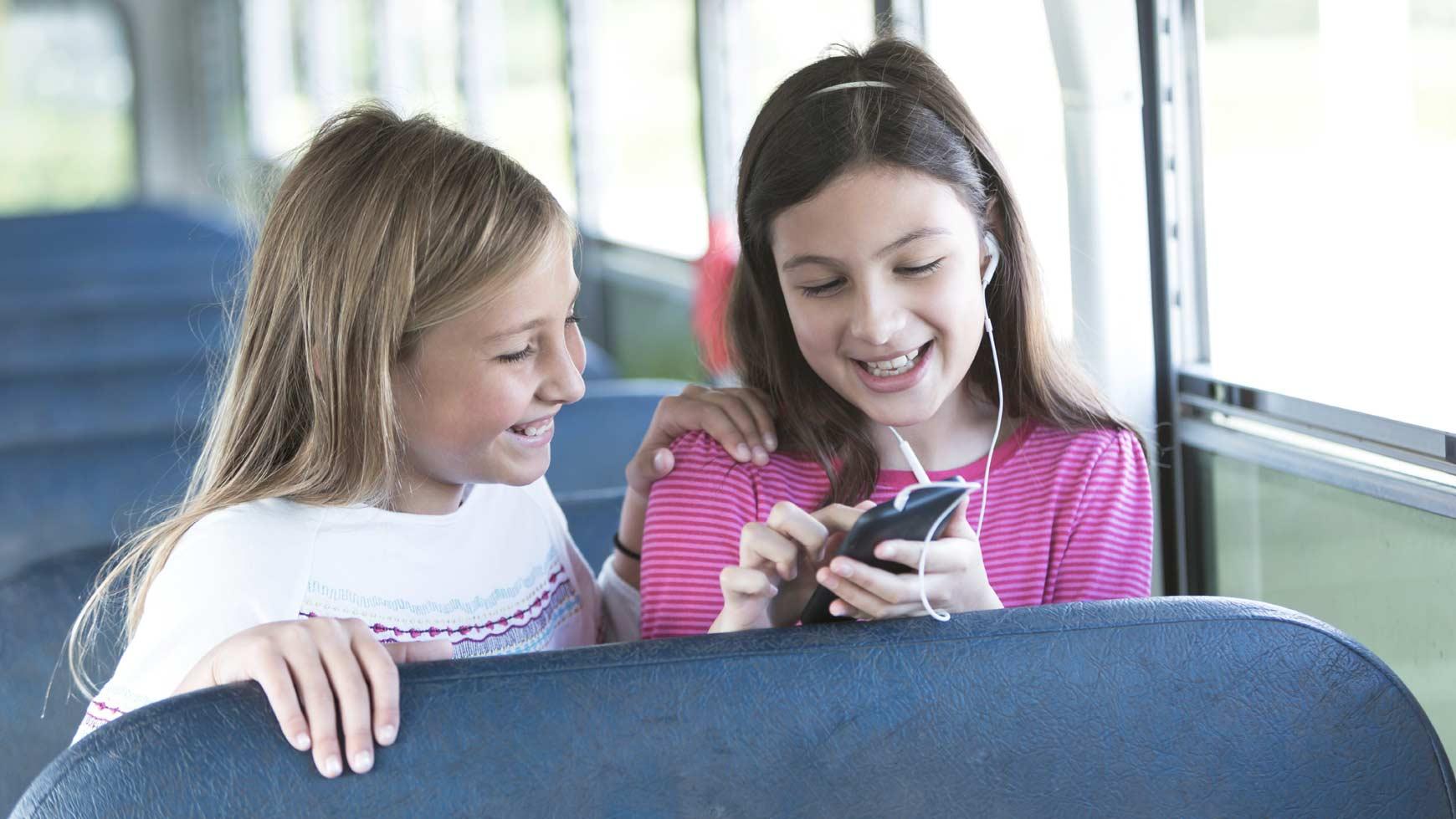Friends Talking At School