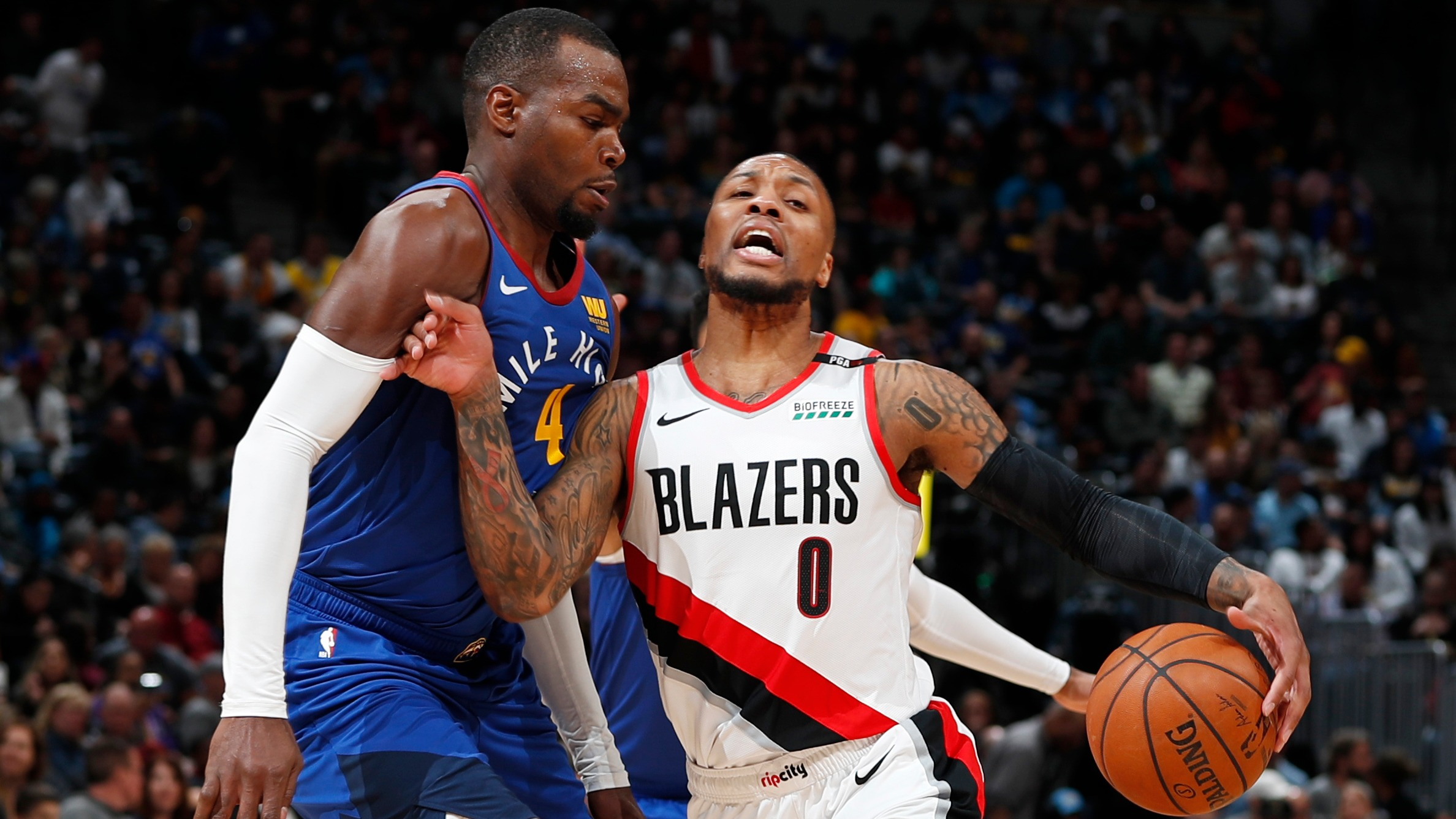 Trail Blazers at Nuggets Game 1 point spread, betting