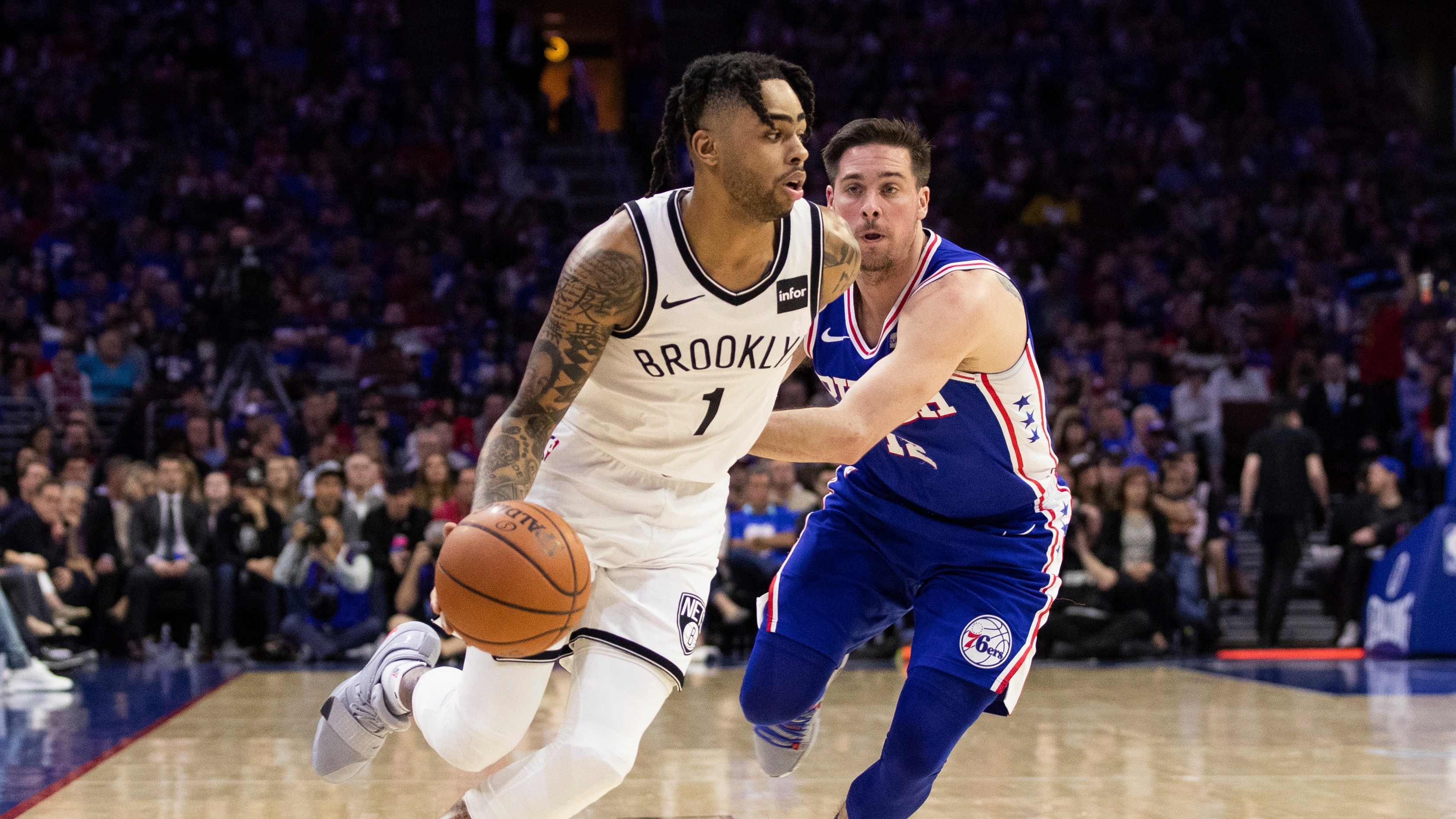 new product 531db 74a7a 2019 NBA playoffs lines, odds, betting preview  76ers  series price slashed  before Game 2 vs. Nets