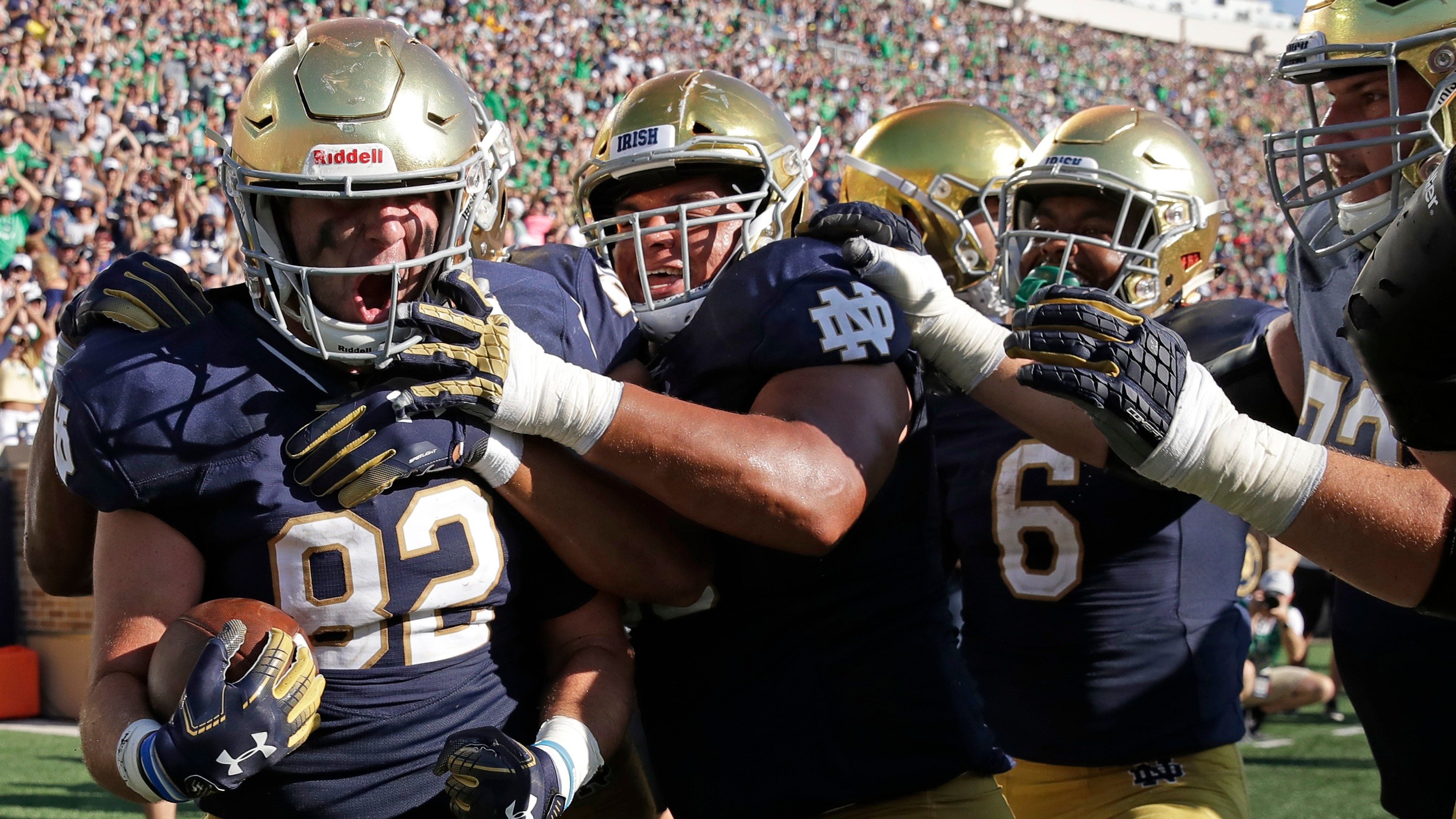 fa5b06c48c6 College football Week 3: Notre Dame holds on to beat Vanderbilt